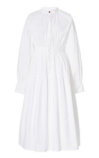 Open-Back Cotton Poplin Dress