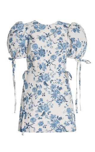 Exclusive The Wrapsody Floral-Print Cotton Mini Dress