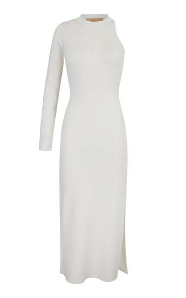 Anais Asymmetric Cutout Jersey Dress