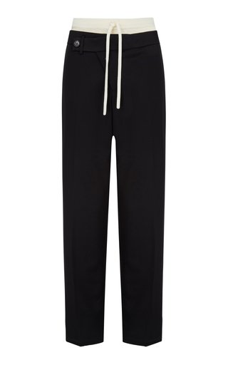 Coralie Crepe Straight-Leg Pants