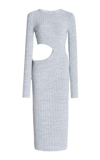 Shale Cutout Knit Midi Dress