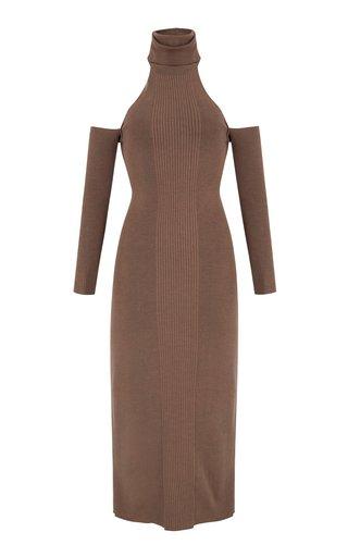 Loma Cold-Shoulder Knit Midi Dress