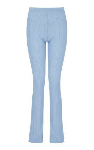 Malachite Knit Straight-Leg Pants