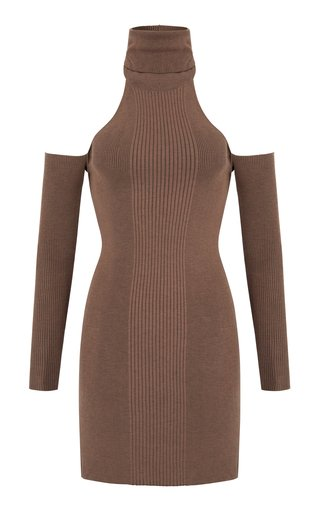 Topaz Open-Back Knit Mini Dress