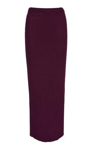 Amethyst Ribbed Maxi Skirt
