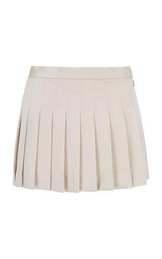 Opal Pleated Cady Mini Skirt