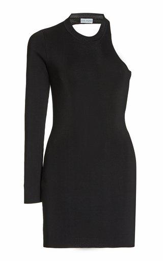 Garnet Cutout Ribbed-Knit Mini Dress