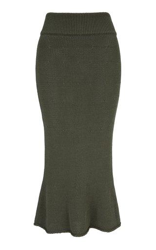 Tourmaline Knit Midi Skirt