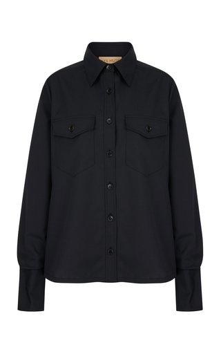 Amber Pinstripe Gabardine Shirt