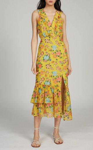 Anna Printed Silk Georgette Dress