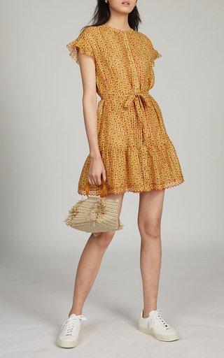 Bettie Printed Cotton-Silk Dress