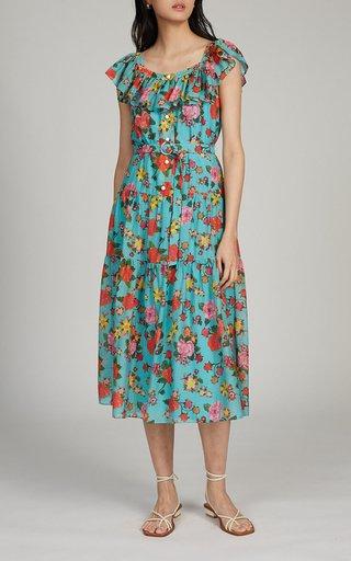 Jemma-B Printed Cotton-Silk Dress