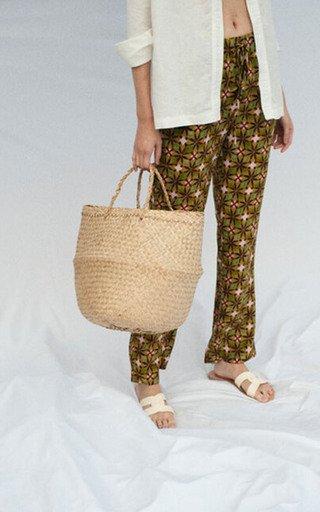 Paige-C Printed Silk Pants