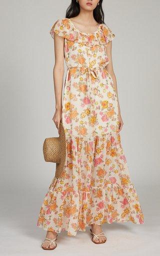 Cassie Printed Silk Maxi Dress