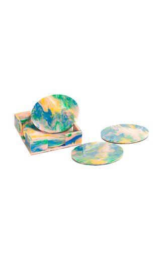 Recycled Plastic Round Coasters