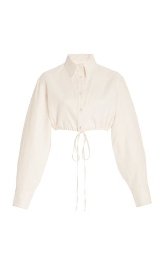 Exclusive Cropped Linen Shirt
