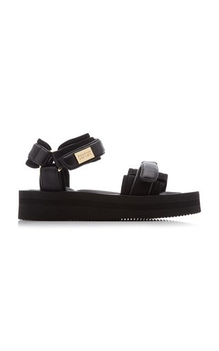Depa Leather-Trimmed Nylon Hiking Sandals