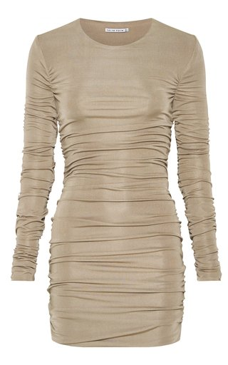 Lead On Ruched Jersey Mini Dress