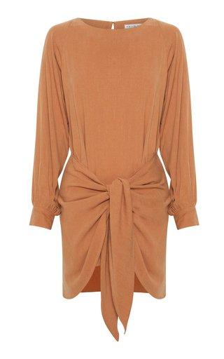 Take Me Away Tie-Detail Jersey Mini Dress