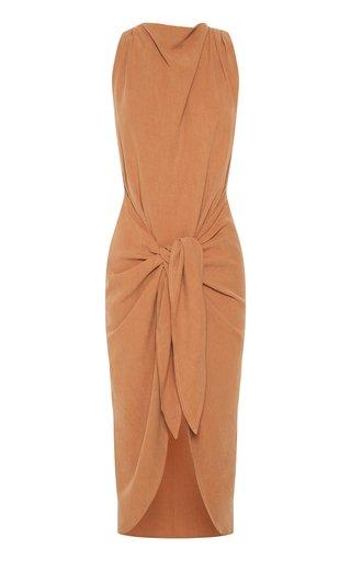 Take Me Away Tie-Detail Jersey Midi Dress