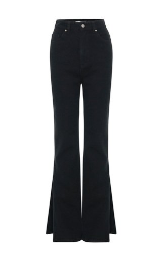 Split Rigid High-Rise Straight-Leg Jeans