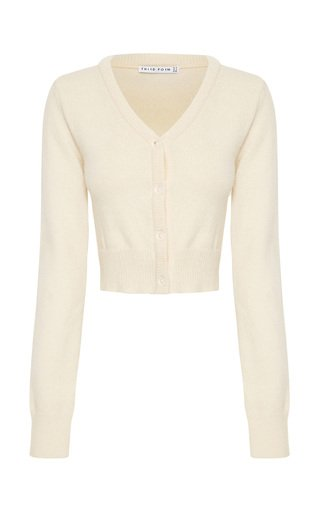 Cropped Knitted Wool-Blend Cardigan