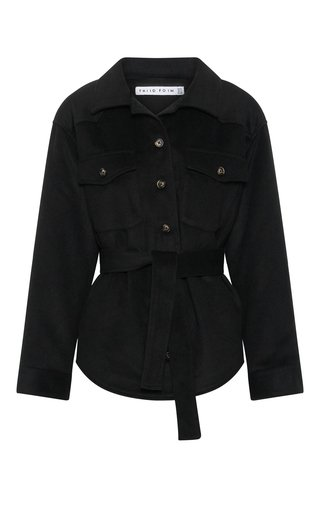 Trucker Belted Wool-Blend Jacket