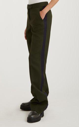 Stripe-Detail Knit Pants