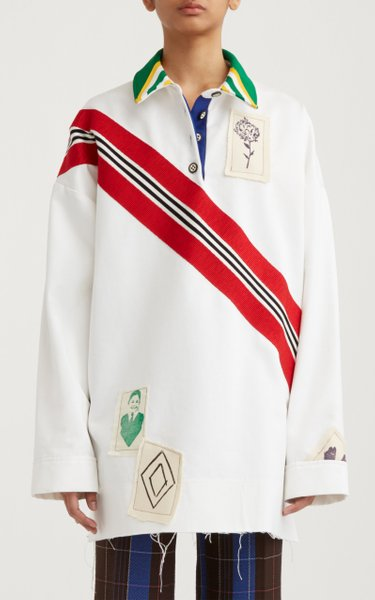 Collared Cotton Rugby Sweater