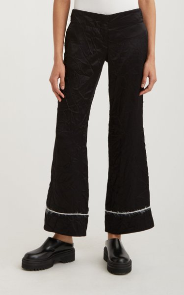 Piped Cropped Pajama Trouser