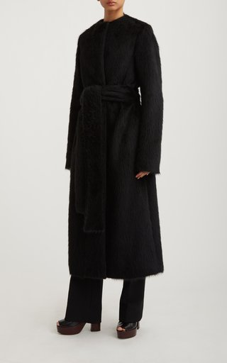 Alpaca-Sherpa Cocoon Coat