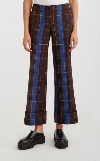Cuffed Cropped Virgin-Wool Blend Trouser