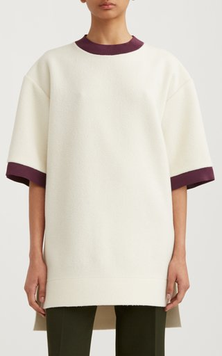 Oversized Ribbed Virgin Wool T-Shirt