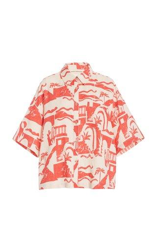 Auberon Printed Woven-Hemp Shirt