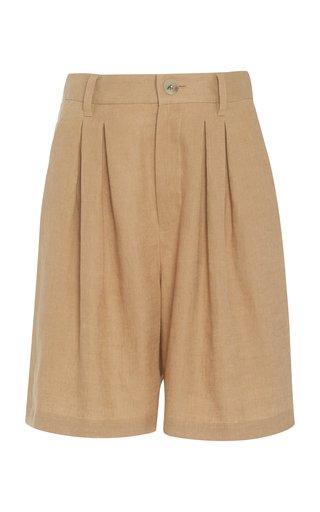 Poe Woven-Hemp Shorts