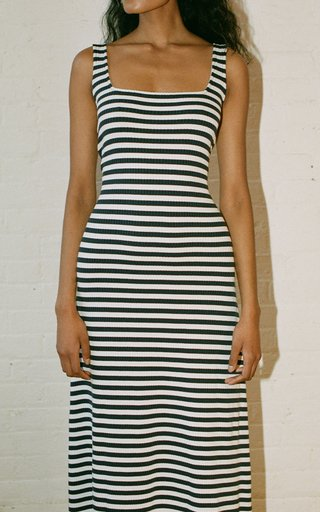 Calla Striped Knit Maxi Dress