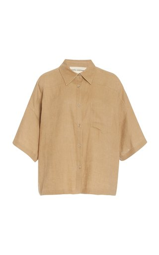 Auberon Woven-Hemp Shirt