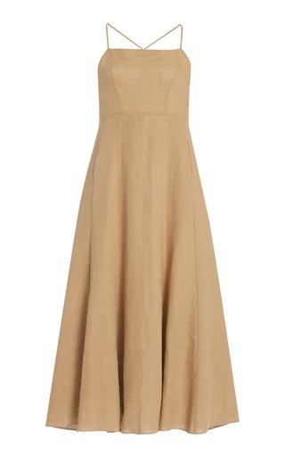 Verona Woven-Hemp Maxi Dress