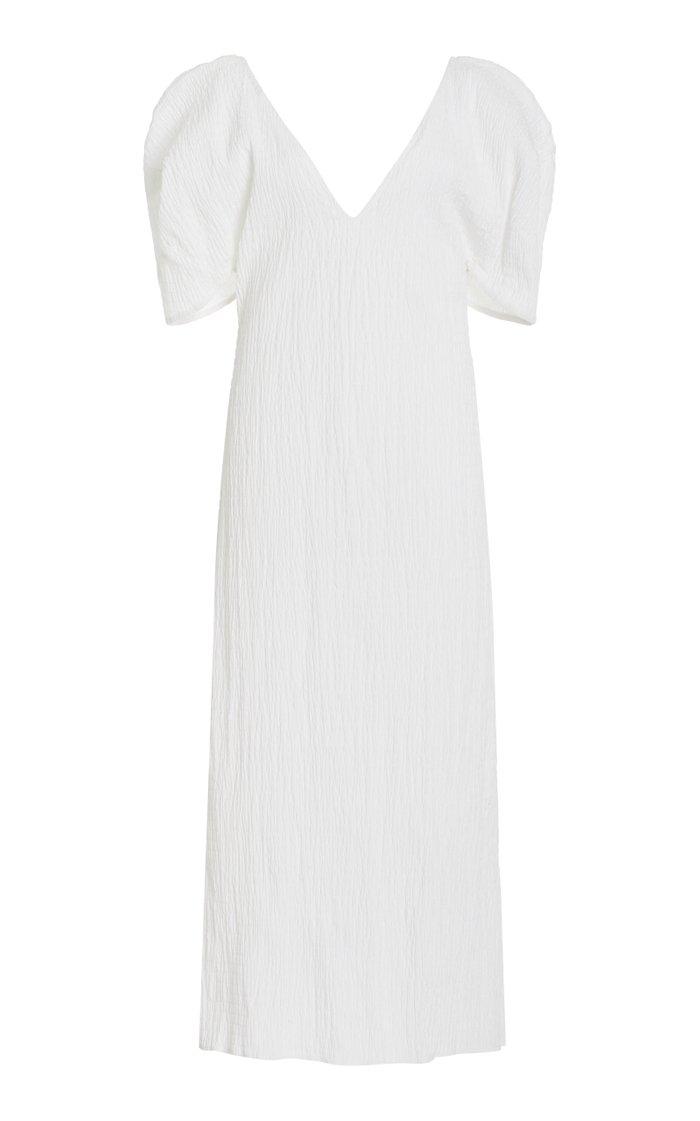 Gracen Puff-Sleeve Woven Cotton Dress