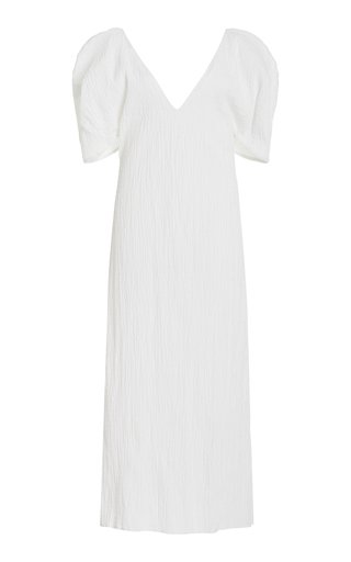 Gracen Puff-Sleeve Woven Cotton Dress