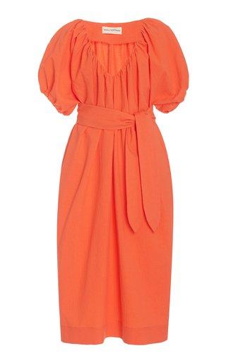 Alora Woven-Cotton Maxi Dress
