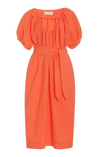 Alora Woven-Cotton Midi Dress