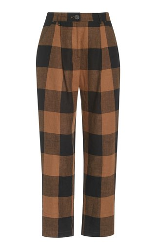 Dita Woven-Cotton Straight-Leg Pants