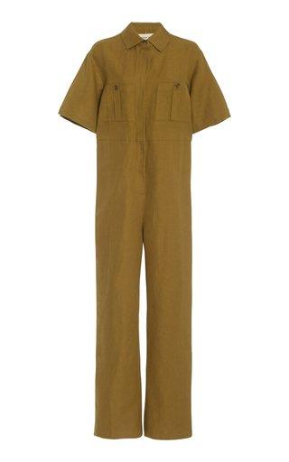 Kailyn Linen-Cotton Jumpsuit
