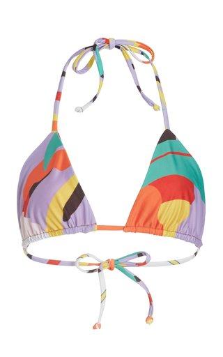Rae Printed Triangle Bikini Top