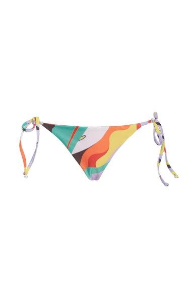 Lei Printed String Bikini Bottom