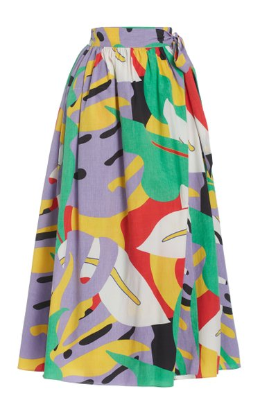 Katrine Printed Organic Cotton Maxi Wrap Skirt