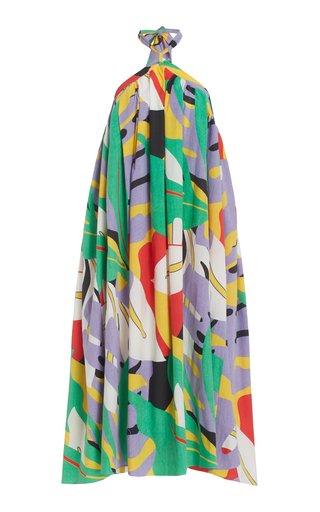Graziella Printed Halter Maxi Dress