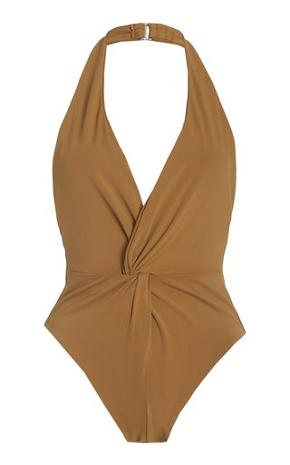 Gabriela One-Piece Halter Swimsuit