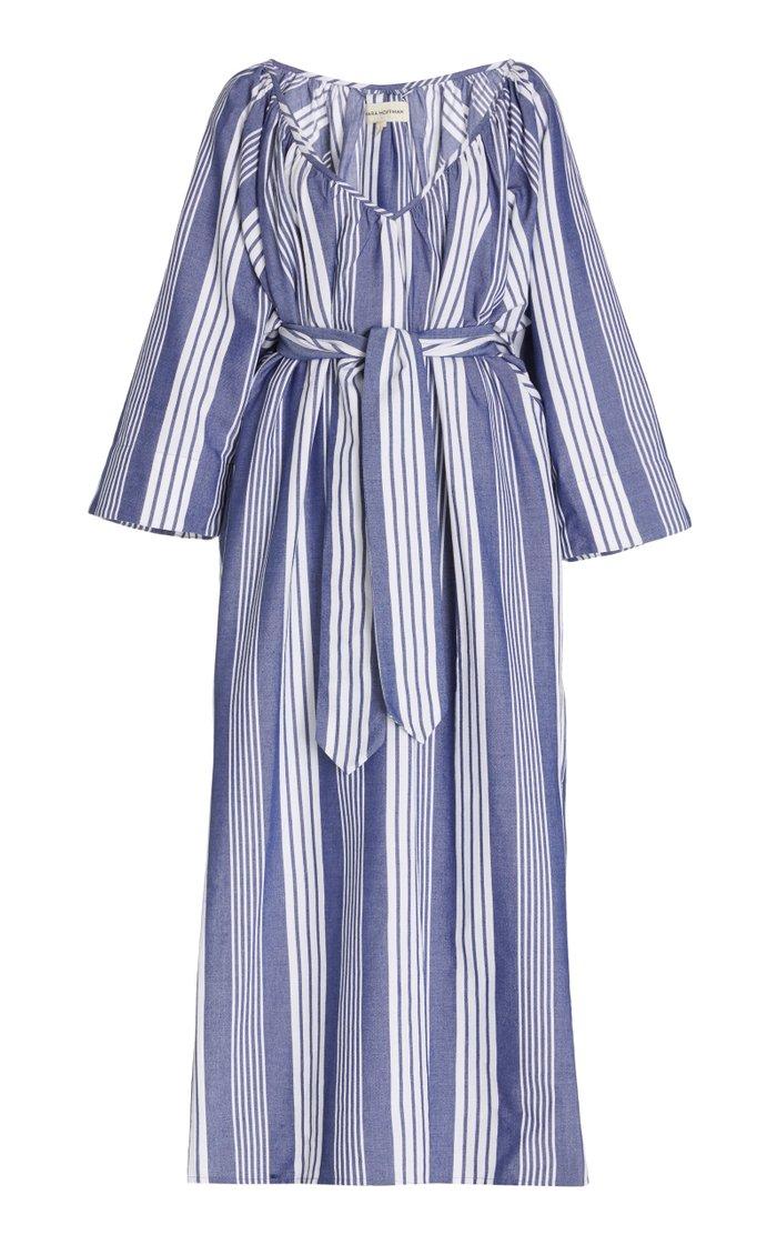Luz Striped Cotton-Blend Maxi Dress